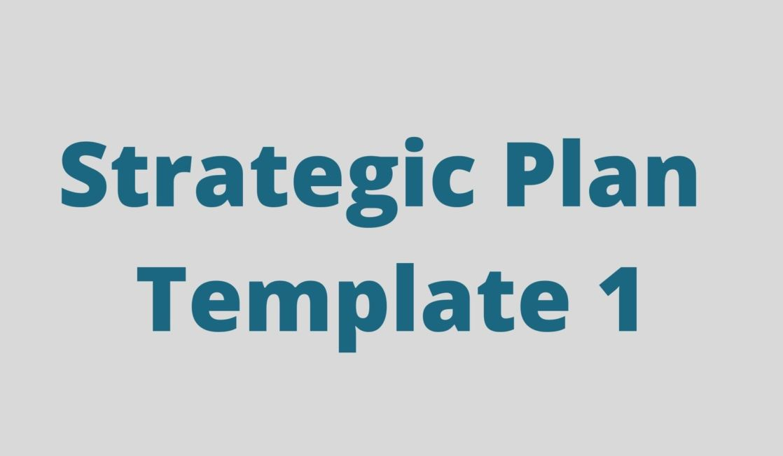 Strategic plan template 1 text